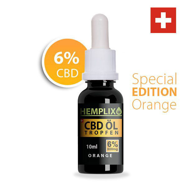 Hemplix CBD ÖL 6% Orange